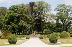 Abbaye de Fontenay -  Large park of th Abbey of Fontenay, ornamental garden for the use of the abbot commendataire.