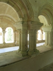 Abbaye de Fontenay - English: Fontenay Abbey -  Multiple columns of the cloister (Côte d'Or, France).