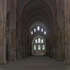 Abbaye de Fontenay -  Nave of the Abbey of Fontenay.