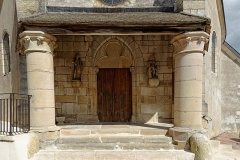 Eglise Saint-Vallier de Messigny - Français:   Porche de l\'Église Saint-Vallier à Messigny et Vantoux (Côte d\'Or, France)
