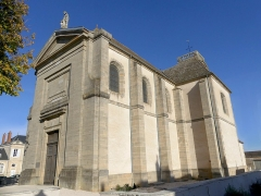 Eglise - English: Sight of Saint-Philippe-et-Saint-Jacques church of Pommard, in Côte-d'Or, France.