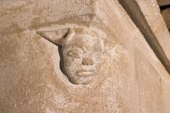 Château - English: Long ears man. Details of a fireplace in Château de Posanges, France.