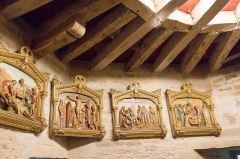 Château - English: Stations of the Cross, Château de Posanges, France.