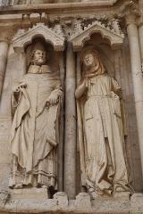 Eglise Saint-Thibault - Portail septentrional de l'église Saint-Thibault de Saint-Thibault (21).