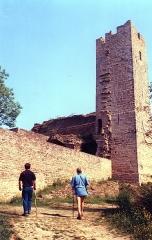 Château de Thil (ruines) - English: Le château  de Thil en 1989