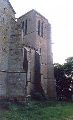 Collégiale de Thil (ruines) - English: La Collégiale de Thil en 1989