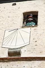 Tour du beffroi - Deutsch: Altstadt mit dem Uhrturm Uhrturm Beffroi  in BOURBON-LANCY