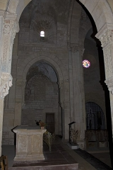 Eglise Saint-Hilaire -  The span of the choir, the arch of the transept.