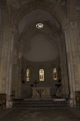 Eglise Saint-Hilaire -  Apse in bottom of oven.