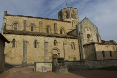 Eglise Saint-Hilaire -  The church of Saint Hilary (View from the chapter house).