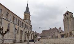 Ancienne église Saint-Martin, actuellement Saint-Jean-Baptiste - English: Toulon-sur-Arroux, Burgundy, FRANCE