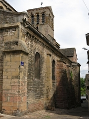 Eglise de la Madeleine - English: Church of la Madeleine in Tournus (Saône-et-Loire, France). South-East side, rue Prelange.