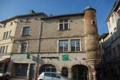 Maison dite de l'Escargot -  Façade de la Maison de l'Escargot à Tournus (Saône-et-Loire, France)