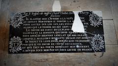 Domaine de Tanlay - Français:   Plaque dans la Tour de la Ligue, Château de Tanlay