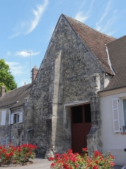 Prieuré Saint-Etienne -  Pignon de la grange de l'ancien prieuré, RD 81.