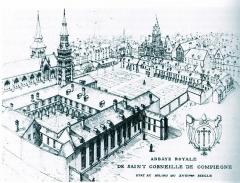 Ancienne abbaye de Saint-Corneille, abritant la Bibliothèque municipale Saint-Corneille -  Abbaye Saint-Corneille Famille Mottet Picardie