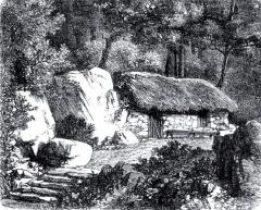 Ermitage de Jean-Jacques Rousseau - Français:   La «cabane du philosophe», fabrique du Désert (partie nord-ouest du parc), où Jean-Jacques Rousseau passait de longues heures lors de son séjour en 1778.