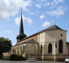 Eglise - English: Grandvilliers (Oise), the church Saint-Gilles