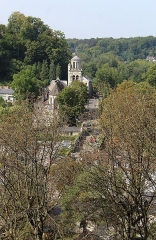 Eglise - English: Pierrefonds, view to the church Saint-Sulpice