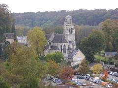 Eglise - Église Saint-Sulpice de Pierrefonds (Oise, France), vue du site du château