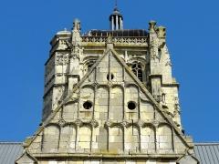 Eglise - Français:   Clocher et pignon du croisillon sud.
