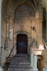 Ancienne cathédrale et son chapître -  Staircase to the Baptistery and stairs to the crypt (disused).