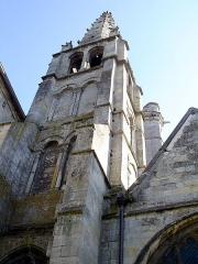 Eglise Saint-Pierre - Français:   Tour romane de l\'église Saint-Pierre à Senlis, Oise, France.