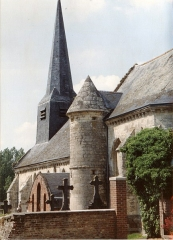 Eglise - English: Église Saint-Médard d'Agnicourt en 1991