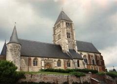 Eglise - English: Église Saint-Martin de Chaourse en 1991