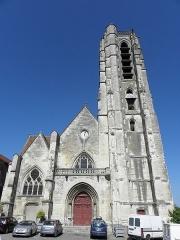 Eglise Saint-Crepin - Français:   Façade occidentale de l\'église Saint-Crépin de Château-Thierry (02).
