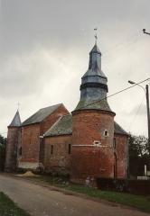 Eglise - English: Église Saint-Martin de Cuiry-lès-Iviers en 1991