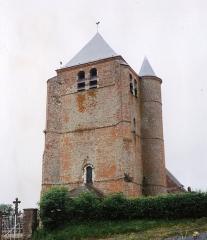 Eglise - English: Église Saint-Corneille-et-Saint-Cyprien d'Hary en 1991