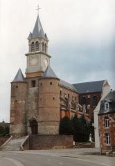 Eglise - English: Église Saint-Cyr-et-Sainte-Julitte d'Origny-en-Thiérache en 1991
