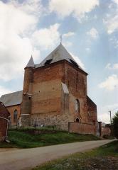 Eglise - English: Église Saint-Algis de Saint-Algis en 1991
