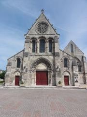 Eglise - Français:   Église Notre-Dame de Vailly-sur-Aisne, façade
