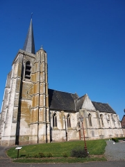 Eglise de l'Assomption - English: Notre-Dame-de-l'Assomption church in Ailly-le-Haut-Clocher, Somme department, France.