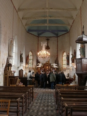 Eglise Saint-Pierre -  La nef de l'église Saint-Pierre de Frémontiers (Somme)