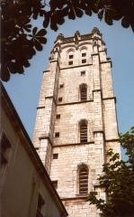 Ancienne abbaye de Brou - English: Église de Brou, la tour, en 1979