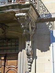 Maison Flachère de Roustan - Français:   maison Flachère de Roustan, Grand-Faubourg (rue du) (Inscription   Classement, 1982   1982): Porte d\'entrée détail