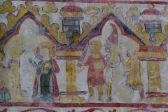 Ancienne cathédrale, actuellement église paroissiale -  Peinture murale de la cathédrale Notre-Dame et Saint-Paul de Saint-Paul-Trois-Châteaux.