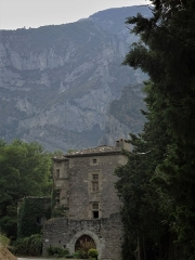 Donjon de Lastic -  Saou (Drome, France), dungeon of Lastic; although privately owned, the building dates back to the 14th century and can be seen by everyone as it is flush with the road.