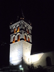 Eglise - English: Clocher et Eglise St Marcellin by night 38160 PA00117259 VAN_DEN_HENDE_ALAIN CC-BY-SA-40 P09nx