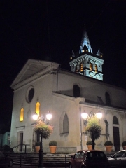 Eglise - English: Clocher et Eglise St Marcellin by night 38160 PA00117259 VAN_DEN_HENDE_ALAIN CC-BY-SA-40 P0917