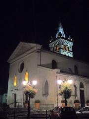 Eglise - English: Clocher et Eglise St Marcellin by night 38160 PA00117259 VAN_DEN_HENDE_ALAIN CC-BY-SA-40 P0917