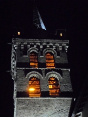 Eglise - English: Clocher et Eglise St Marcellin by night 38160 PA00117259 VAN_DEN_HENDE_ALAIN CC-BY-SA-40 P09nn