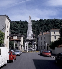 Aiguille (pyramide de la Spina du cirque) -  The pyramid of the roman circus, in situ on the sina terminus (Vienne, Provence, France).
