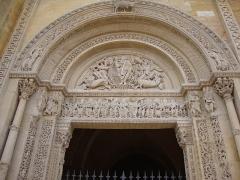 Abbaye de Charlieu - English: Charlieu (Loire, Fr) l'abbaye, tympan