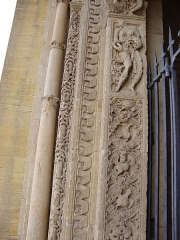 Abbaye de Charlieu - English: Charlieu (Loire, Fr) l'abbaye, detail du portail