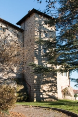 Château - English:  Castle seen from the garden, church side