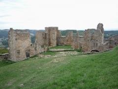 Château de Couzan (restes) - Français:   Bâtiments dans l\'enceinte du château de Couzan
